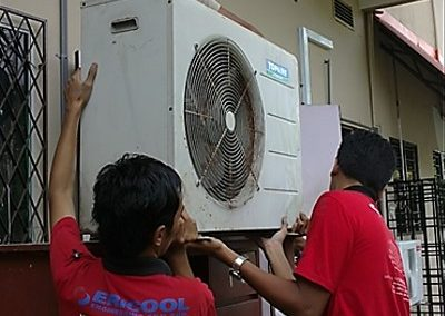 OUTDOOR UNIT AC DISMANTLE