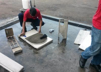 CLEANING OUTDOOR UNIT 2