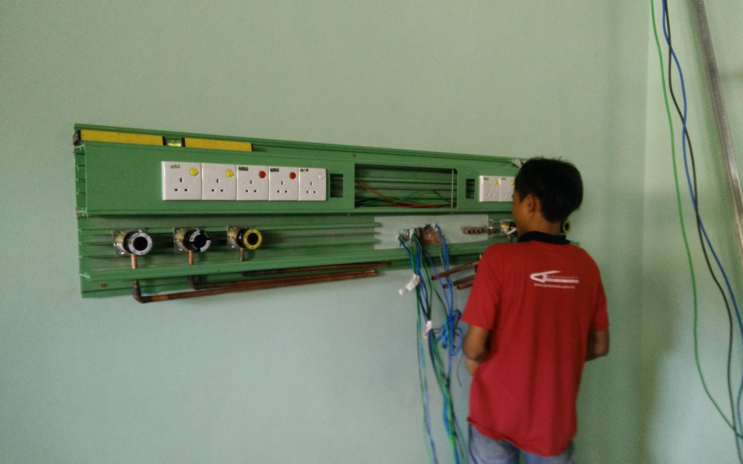 Complete installation CPX MGPS material on Hospital Bintulu site.