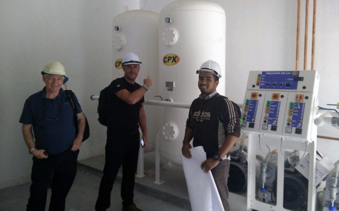 Medical Gas Project Site Visit (HTAR, Klang)