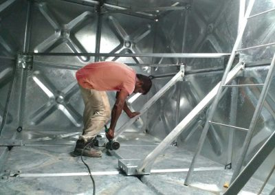 Make up water tank installation 4